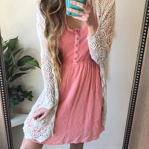 Mossimo Peachy Pink Babydoll Dress